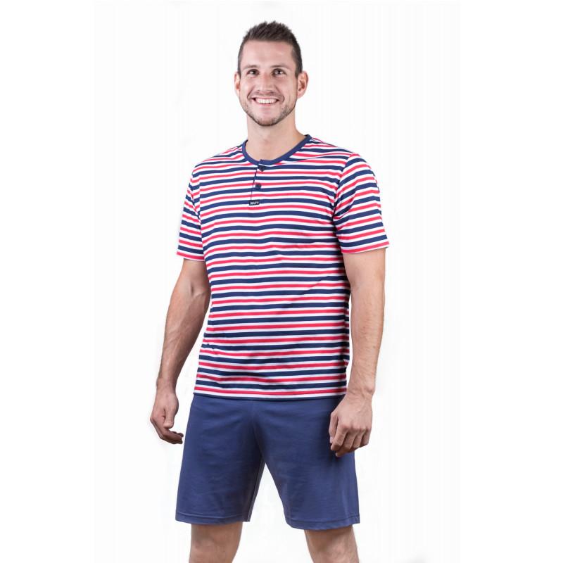 Pánské pyžamo krátké Lady Belty 17V-031324 - barva:BELMAR/námořnická, velikost:M