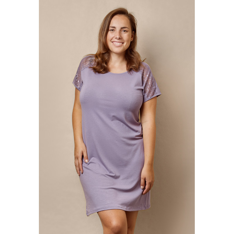 Noční košile 61013 - barva:XBV17/fialová, velikost:M