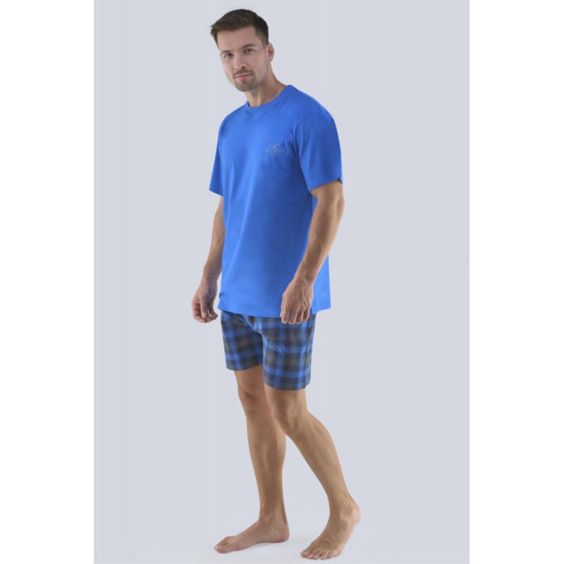 Pánské pyžamo Gina 79072P - barva:GINMxMDCM/modrá-lékořice, velikost:XXL