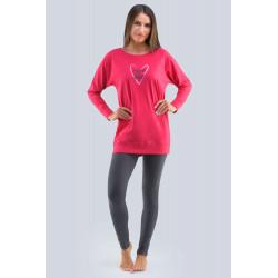 Dámské pyžamo s krátkým rukávem Gina 19113P