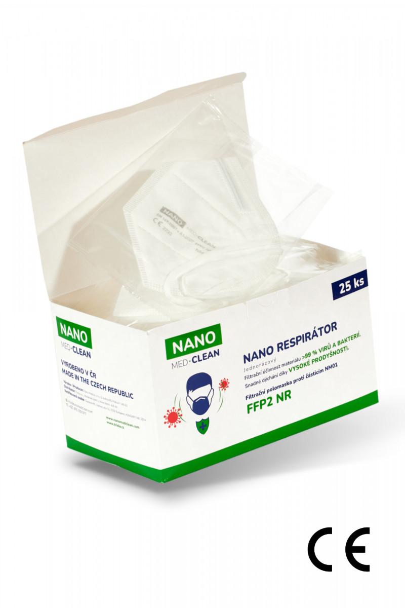 25x FFP2 respirátor NANO MED.CLEAN