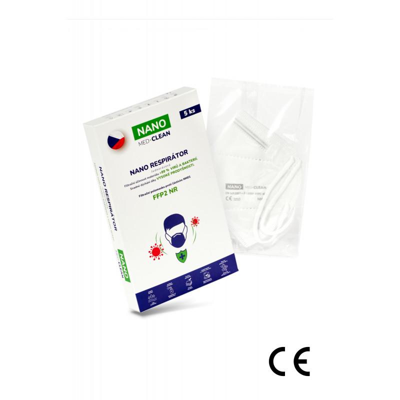 5x FFP2 respirátor NANO MED.CLEAN - barva:B03/bílá