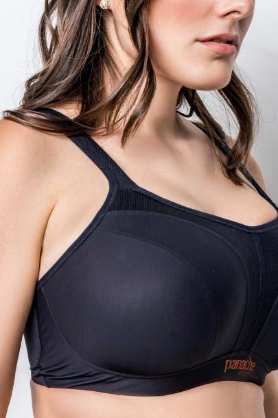 Sportovní podprsenka pro velká prsa Panache Sport S kosticí nebo bez